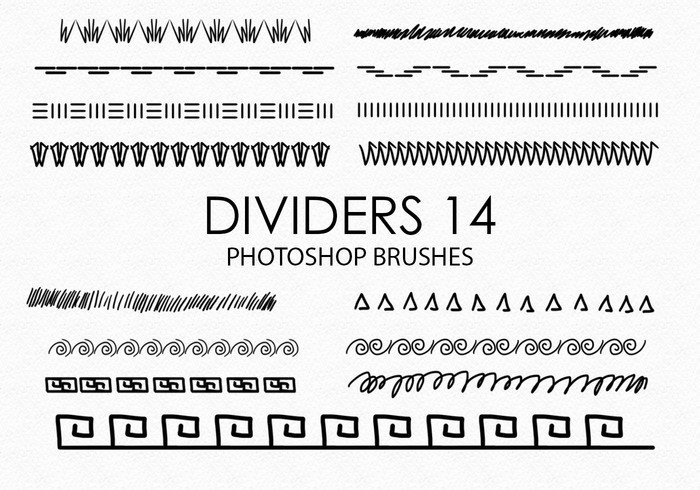 Free Hand Drawn Dividers Photoshop Brushes 14