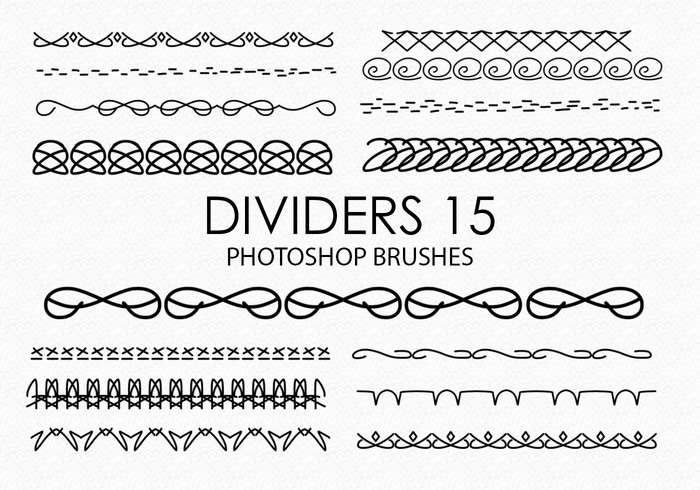 Free Hand Drawn Dividers Photoshop Brushes 15