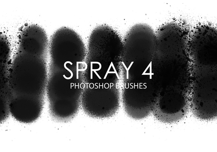 Escovas gratuitas do photoshop do spray 4