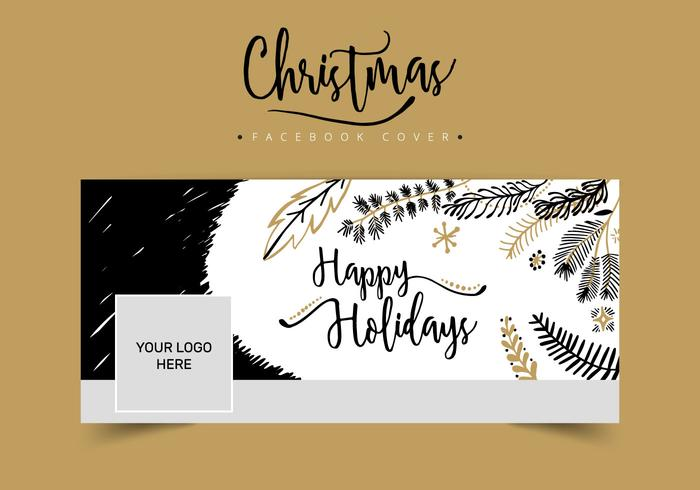 Kerstmis Facebook Cover PSD