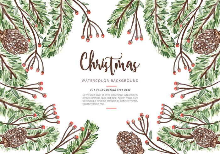 Christmas Watercolor Background Psd Free Photoshop Brushes At