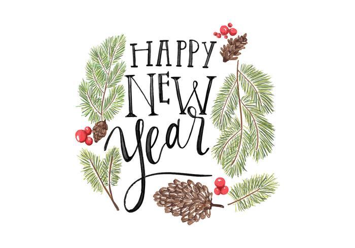 Glückliche Neujahrsbeschriftung PSD