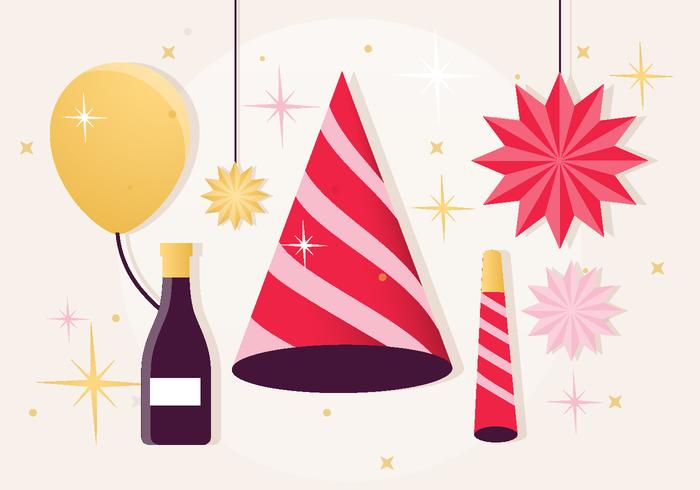 Festive New Year Elements PSD