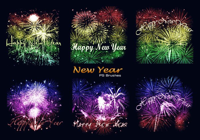 20 New Year PS Brushes abr. Vol.5