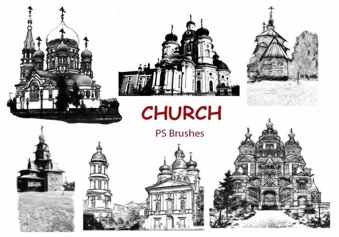 20 Church Sketch PS Pinceles abr. Vol.7