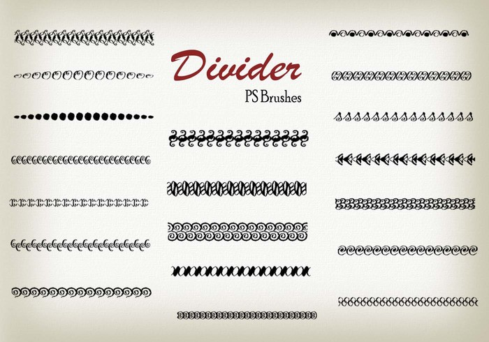 20 Divider Ps Brushes abr. Vol.8