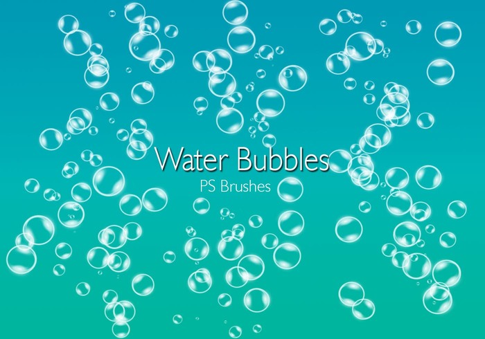 20 Bubbles d'eau PS Brushes abr.Vol.2