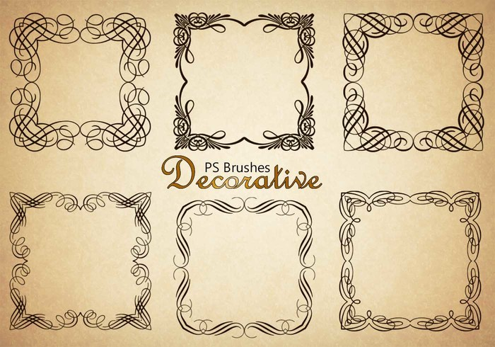 20 Decorative Border PS Pinceles abr. Vol.4