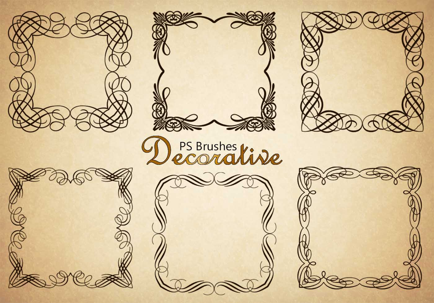 20 Decorative Border Ps Brushes Abr Vol 4 Free