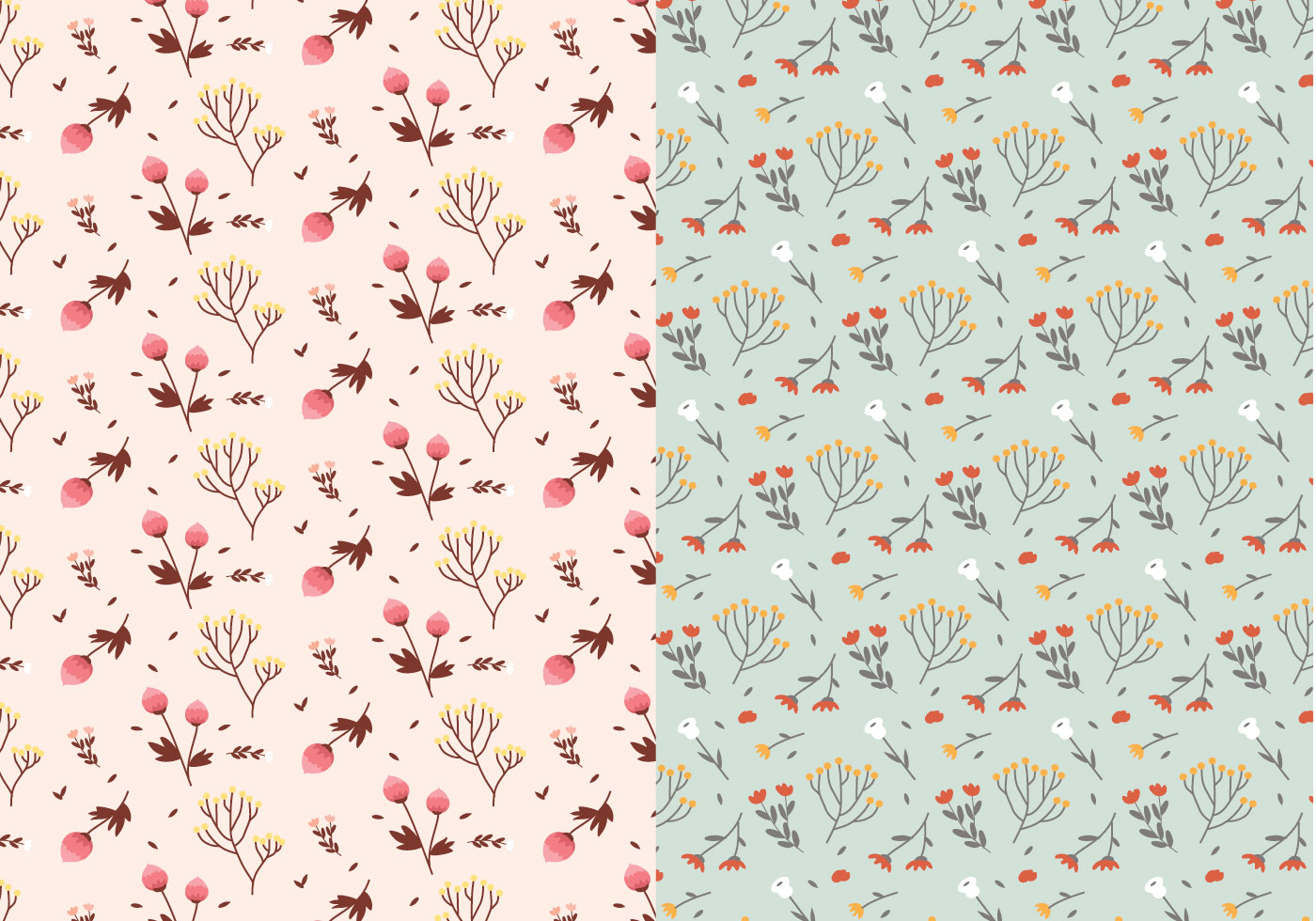 Pastel Plants Patterns Free Photoshop Brushes At Brusheezy