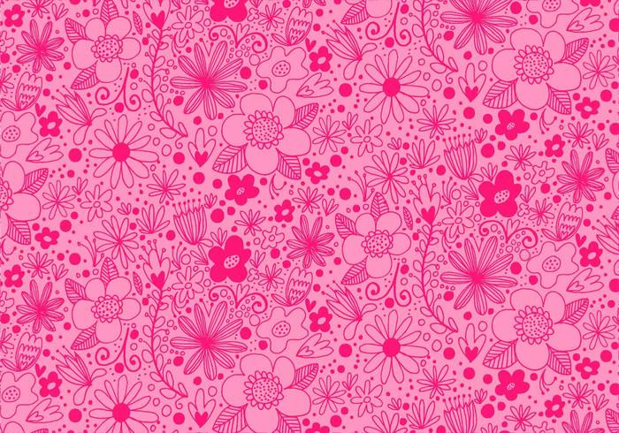 Pink Repeating Flower Pattern PSD