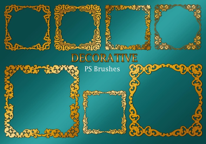 20 Decorative Border PS Brushes abr. Vol.2