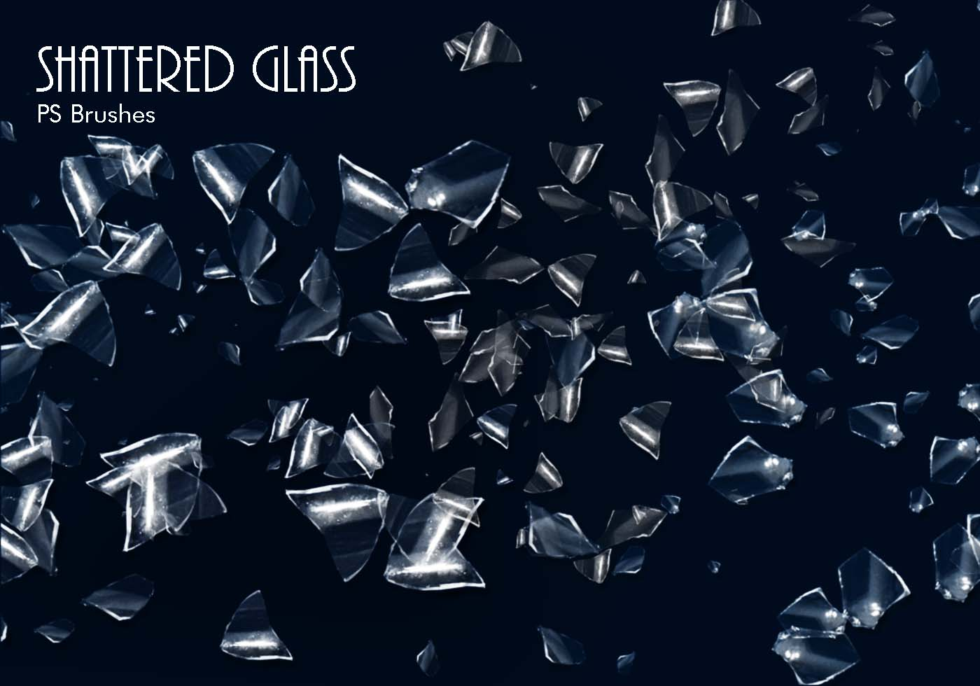 20 Shattered Glass Ps Brushes Abr Vol 5 Free Photoshop