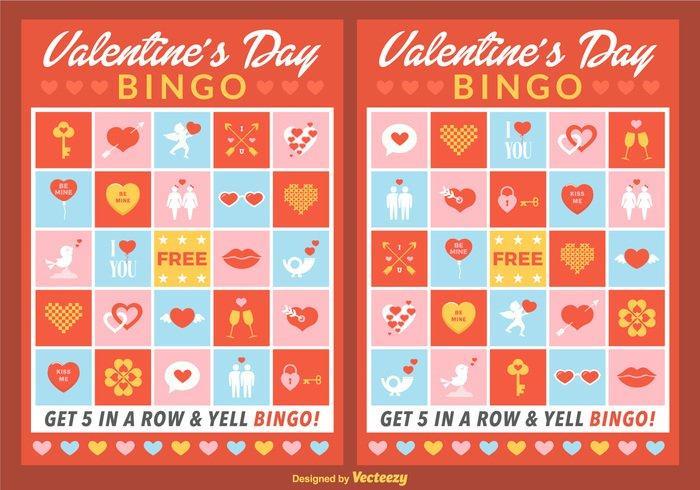 Valentine Bingo Cards PSD