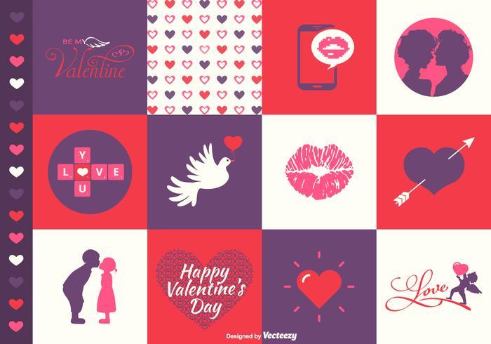 Design de la Saint-Valentin PSDs
