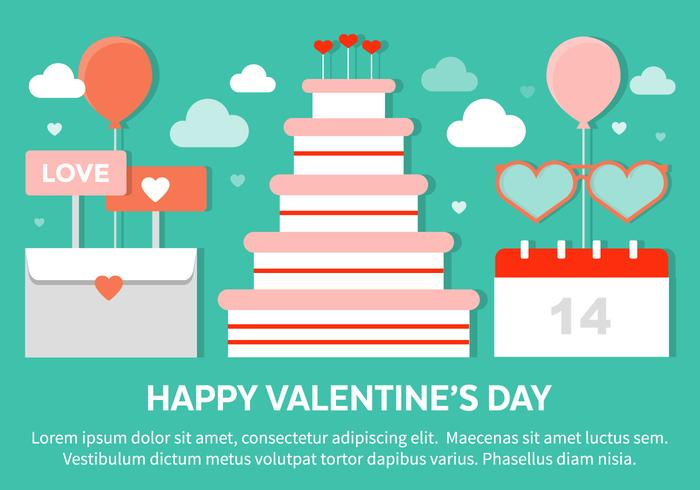Valentine's Day Elements PSD