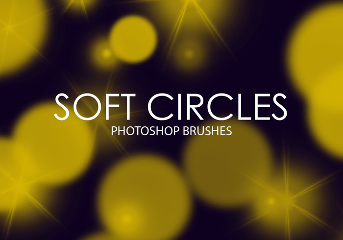 Free Soft Circles Pinceles para Photoshop