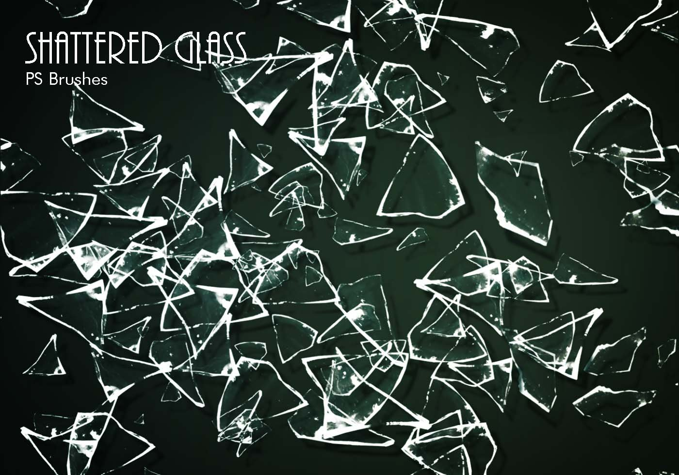 20 Shattered Glass Ps Brushes Abr Vol 6 Free Photoshop