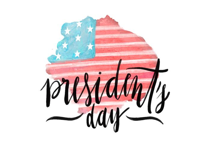 President's Day Flag PSD