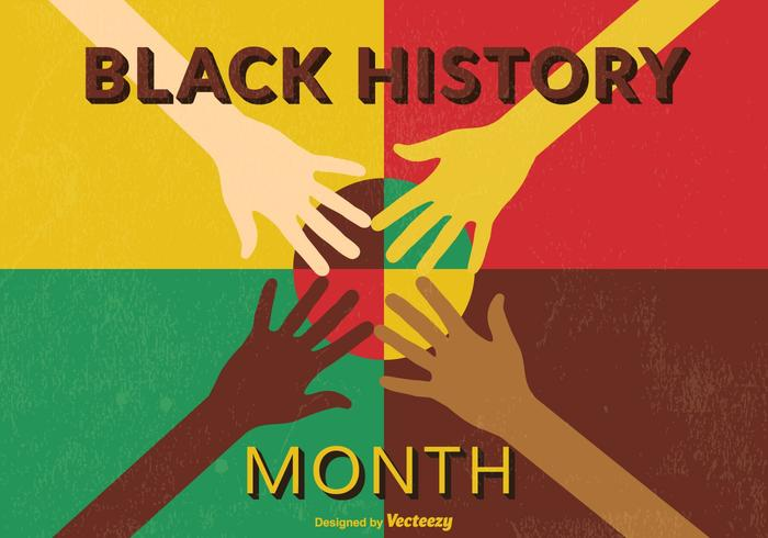 Retro Black Month History PSD Poster