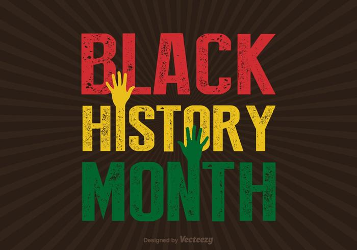 Black History Month Sunburst PSD Background