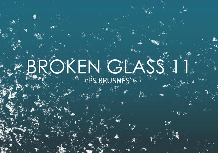 Gratis Gebroken Glas Photoshop Borstels 11