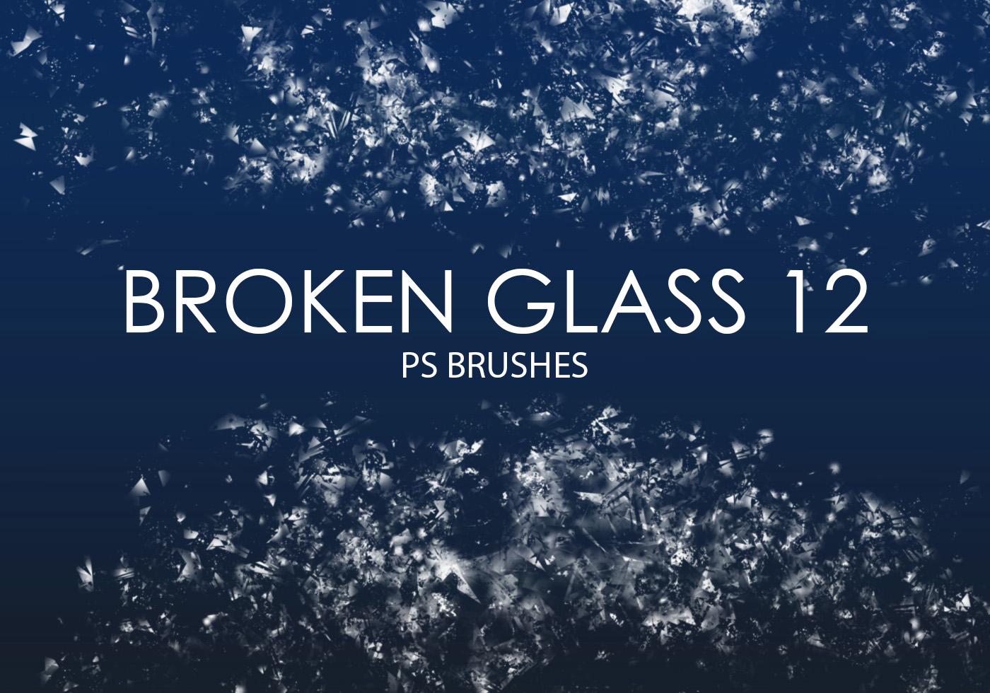 Broken Glass Pieces Brush Photoshop