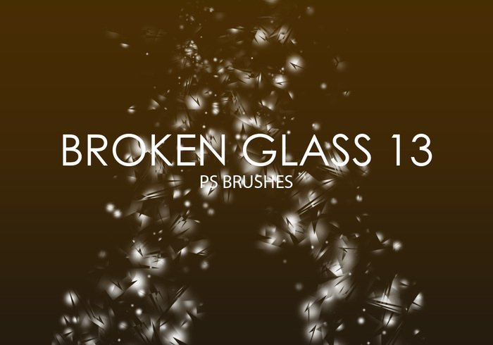 Free Broken Glass Pinceles para Photoshop 13