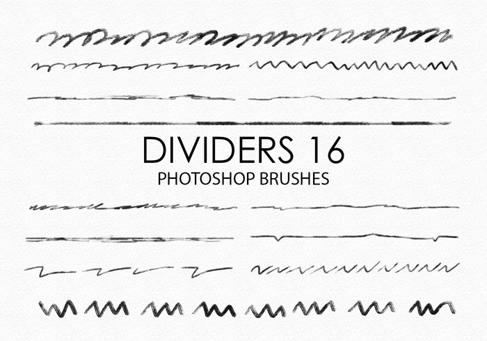 Free Hand Drawn Dividers Pinceles para Photoshop 16