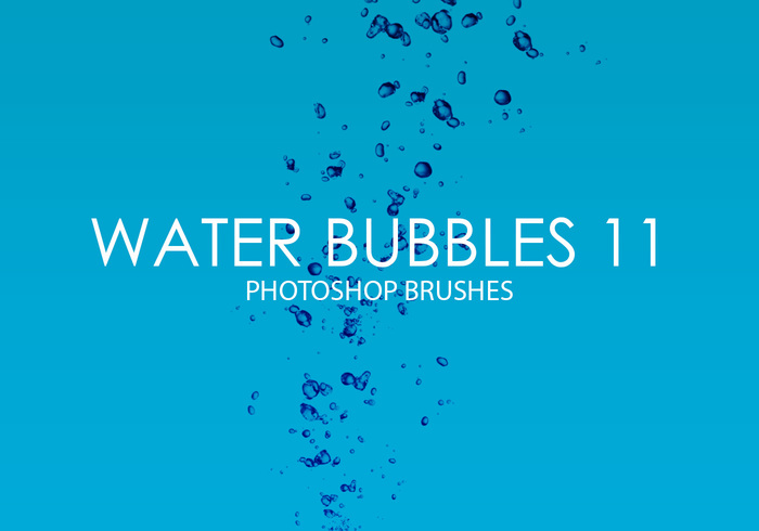 Free Water Bubbles Pinceles para Photoshop 11