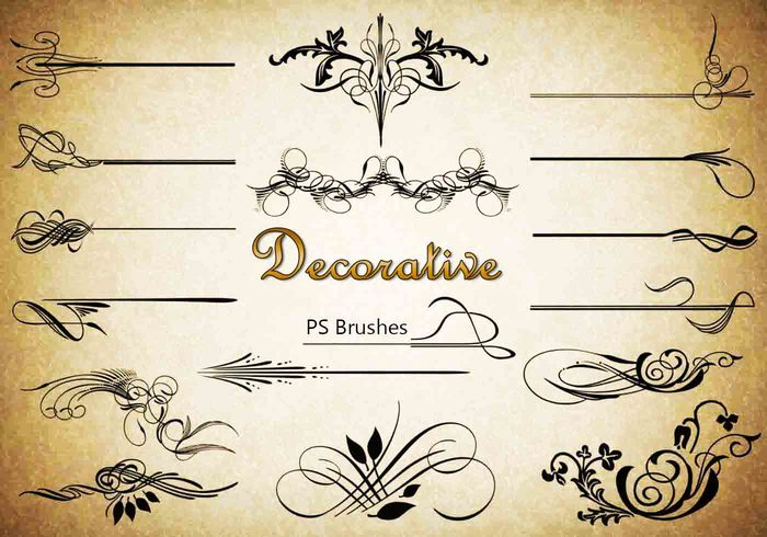 20 Decorative PS Brushes abr. Vol.7