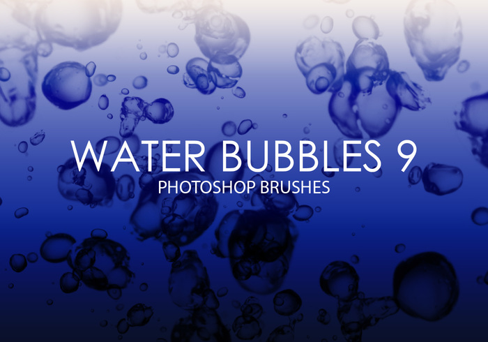 Free Water Bubbles Pinceles para Photoshop 9