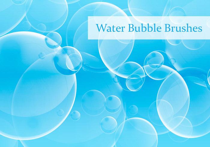 Pinceles de burbujas de agua