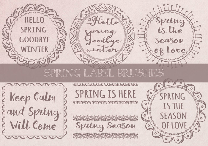 Spring Label Brushes