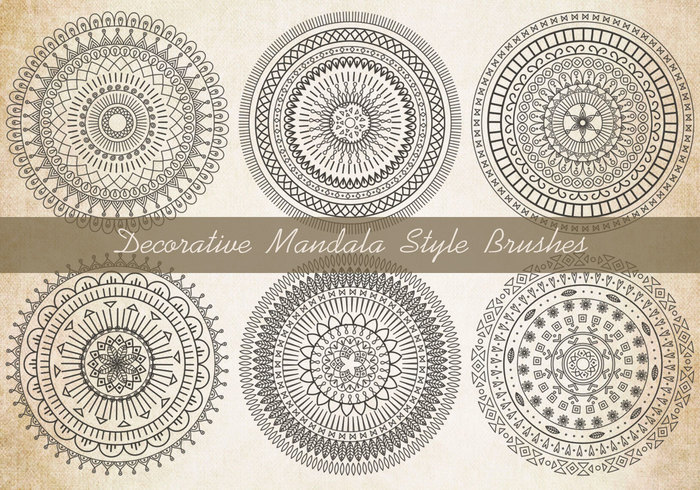 Decorative Mandala Brushes