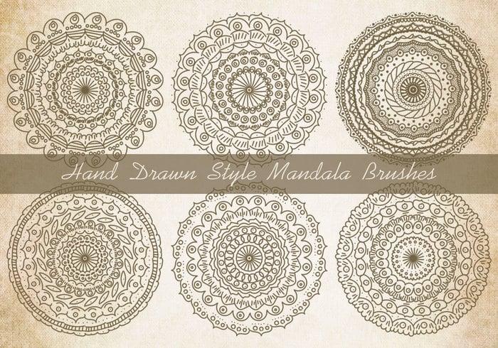 Sketchy estilo Mandala cepillos