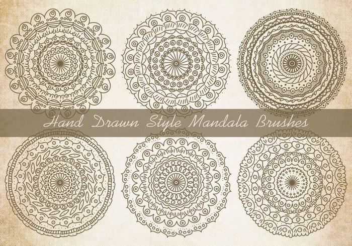 Sketchy Style Mandala Borstels