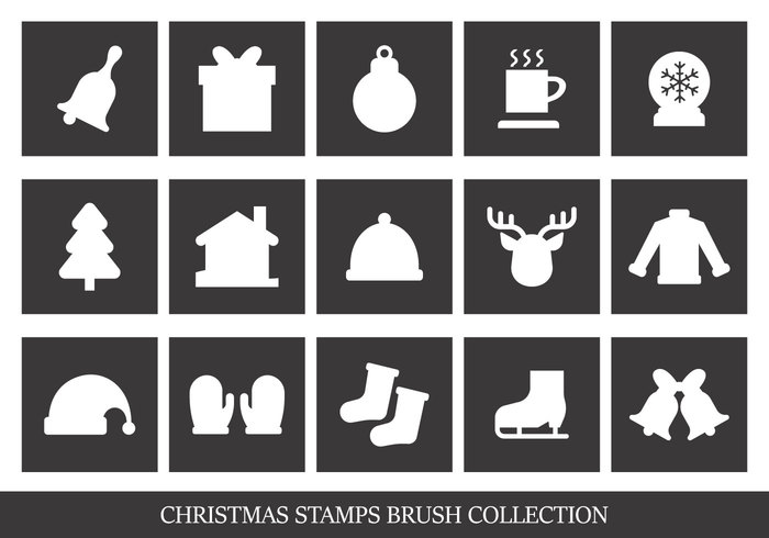 Christmas Stamp Brush Collection