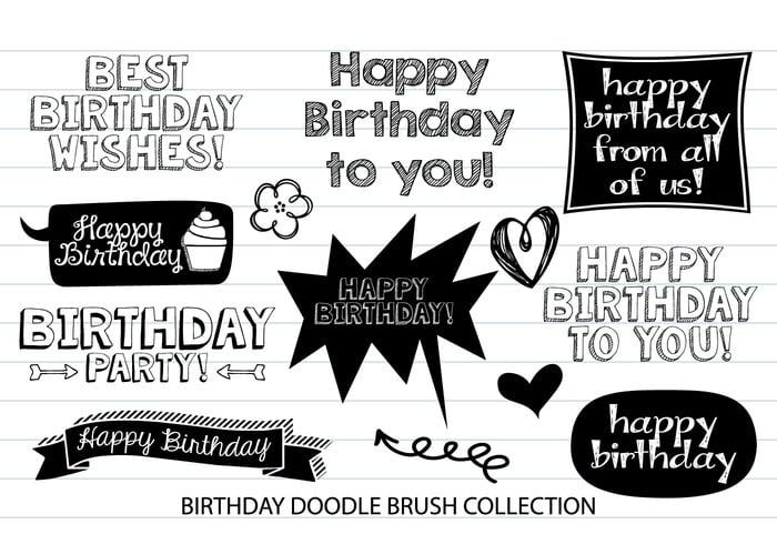 Birthday Doodle Brushes