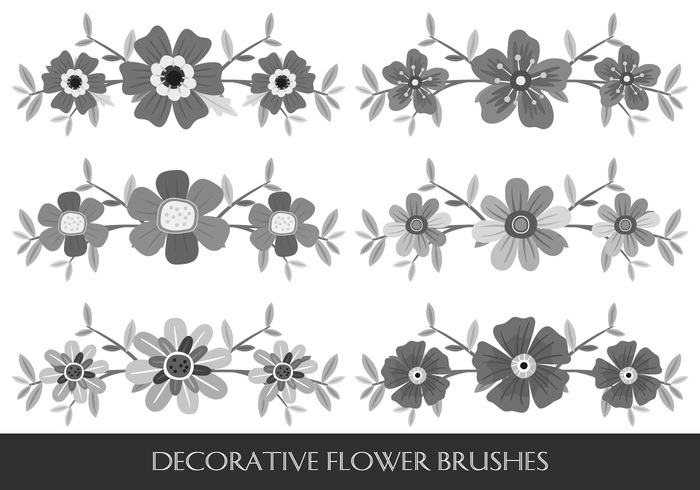 Decorative Flower Brushes