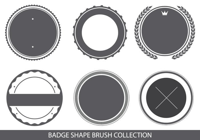 Badge formes brosse collection