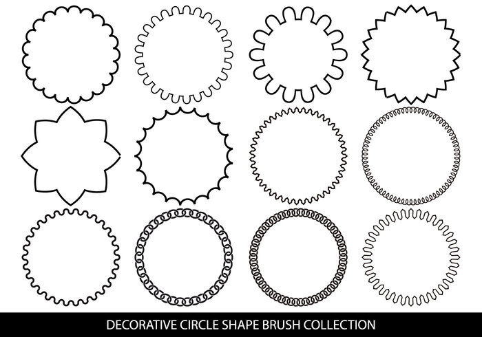 Decorative Circle Shape Brushes