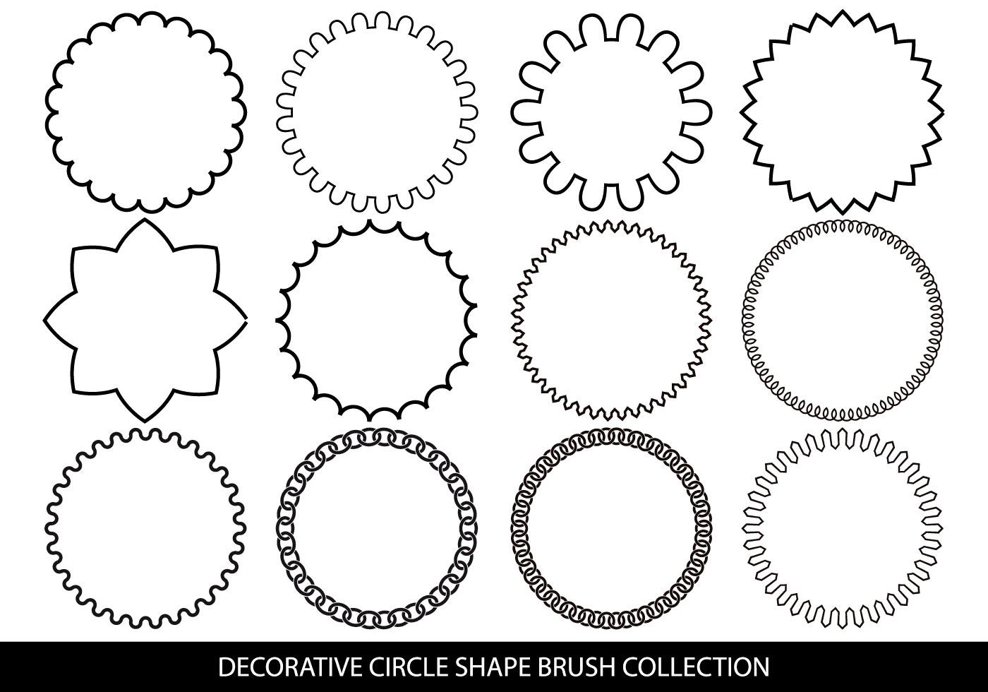circle shapes brush collection free photoshop brushes at brusheezy