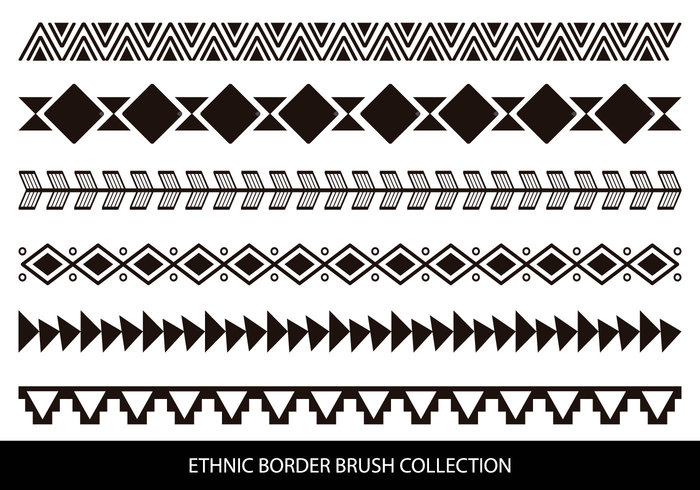 Etnisk stil kantborstar