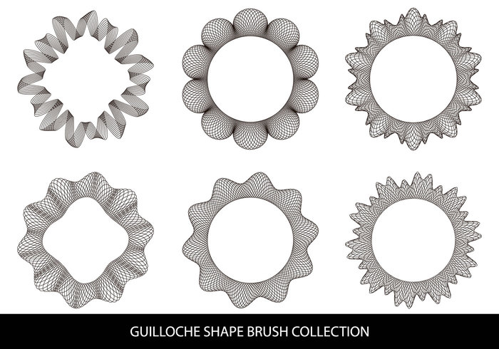 Guilloche Shape Brushes