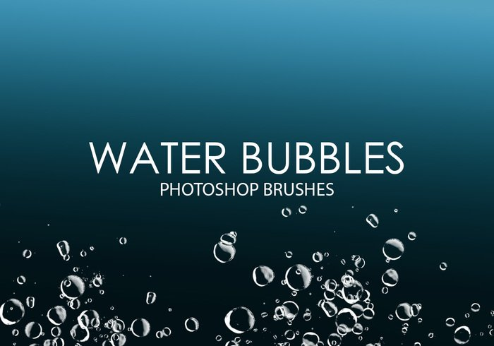 Gratis Waterbellen Photoshop Borstels