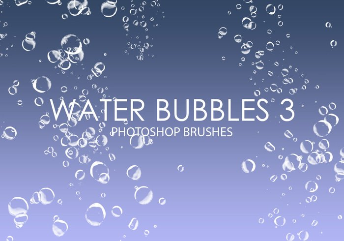 Free Water Bubbles Pinceles para Photoshop 3