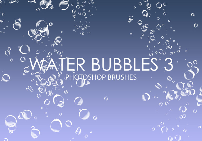 Gratis Waterbellen Photoshop Borstels 3