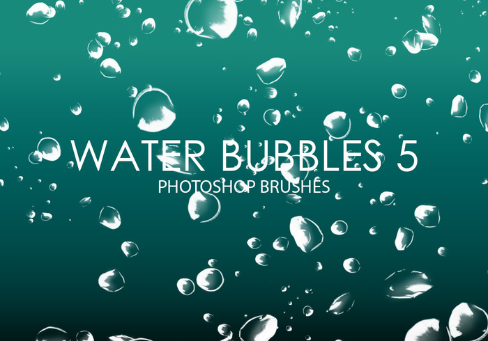 Free Water Bubbles Pinceles para Photoshop 5
