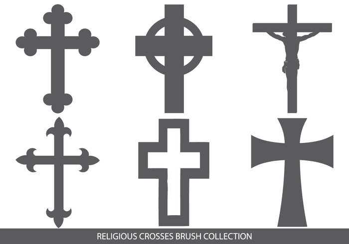 Religiös Cross Brush Collection